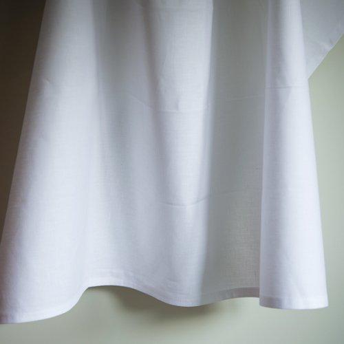 白 綿麻 キッチンクロス