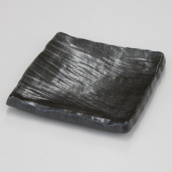 送料無料 福袋 備前黒荒彫角皿 大 10枚セット 和食器 角皿(中)18cm〜25cm 業務用 約20cm