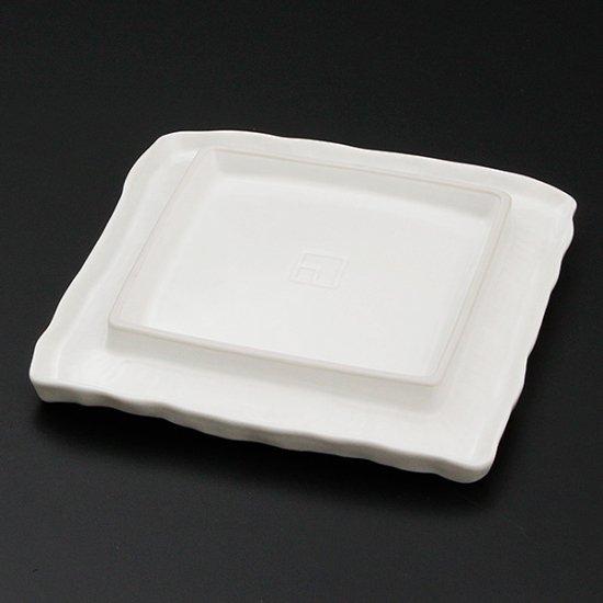 送料無料 福袋 白マット荒彫角皿 大 5枚セット 和食器 角皿(中)18cm〜25cm 業務用 ※画像判定× 約20cm