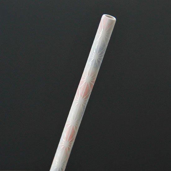 MYSTRO primo マイストロプリモ&プリモタンブラー 麻の葉ピンク オリジナルBOX入り 陶磁器ストロー 陶製ストロー 美濃焼ストロー