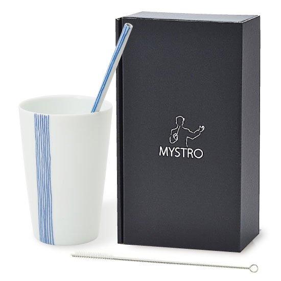 MYSTRO primo マイストロプリモ&プリモタンブラー 五月雨 オリジナルBOX入り ギフト 贈り物 マイストロー おみやげ 陶磁器ストロー おしゃれ 脱プラスチックv