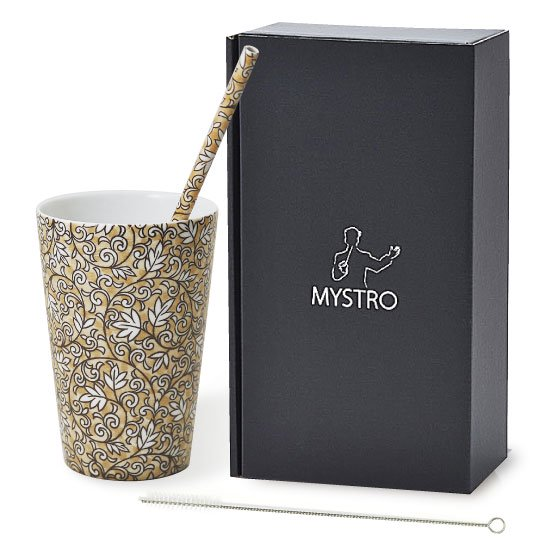 MYSTRO primo マイストロプリモ&プリモタンブラー アンティーク オリジナルBOX入り ギフト 贈り物 マイストロー おみやげ 陶磁器ストロー おしゃれ 脱プラスチック