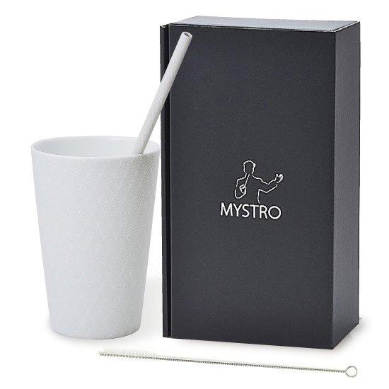 MYSTRO primo マイストロプリモ&プリモタンブラー 紗紋 オリジナルBOX入り 陶磁器ストロー 陶製ストロー 美濃焼ストロー