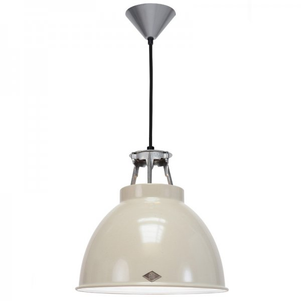 Lighting mid century modern titan size 1 pendant light putty grey mozeypictures Choice Image
