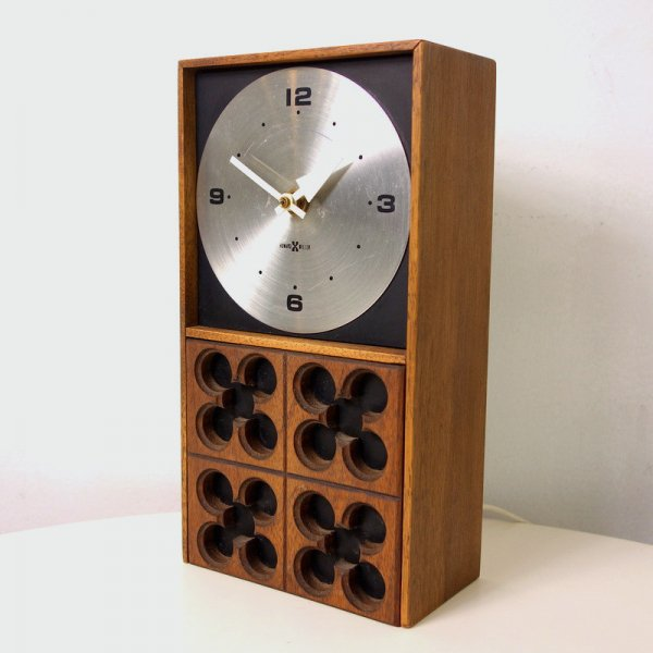 Meridian Wood Table Clock Model No.574 (Electric)