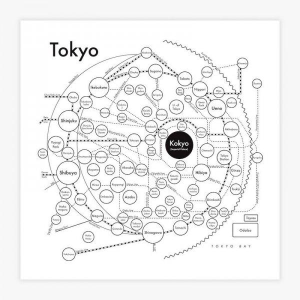 """Letter Press Print 8"""" / TOKYO"""