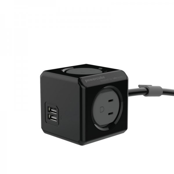 Power Cube / Limited Black(AC4個口+USB2ポート / 1.5mケーブル仕様)<img class='new_mark_img2' src='//img.shop-pro.jp/img/new/icons59.gif' style='border:none;display:inline;margin:0px;padding:0px;width:auto;' />