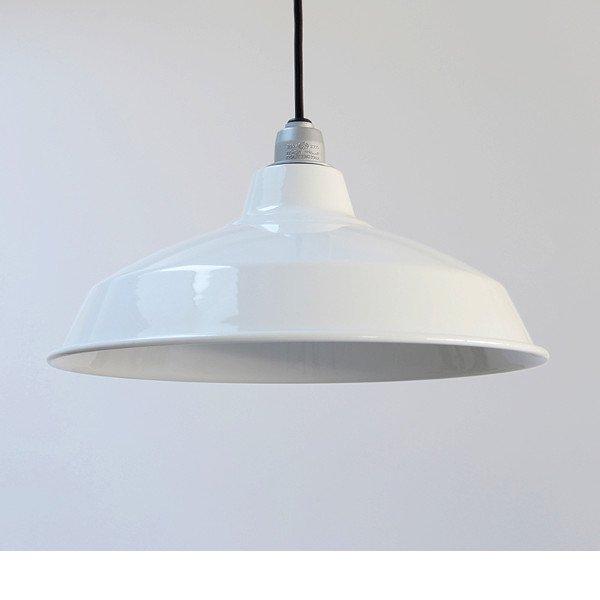 琺瑯(ホーロー)Lamp Shade 12inch / Socket & Cord Set
