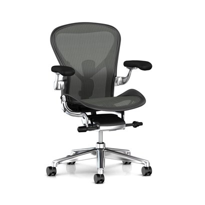 Aeron Chair Remastered Graphite Frame / Polished Aluminum Base