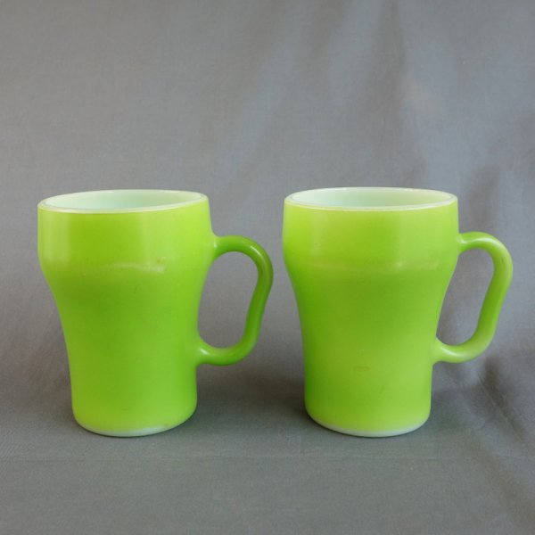 Fire-king Soda Mug / LightGreen