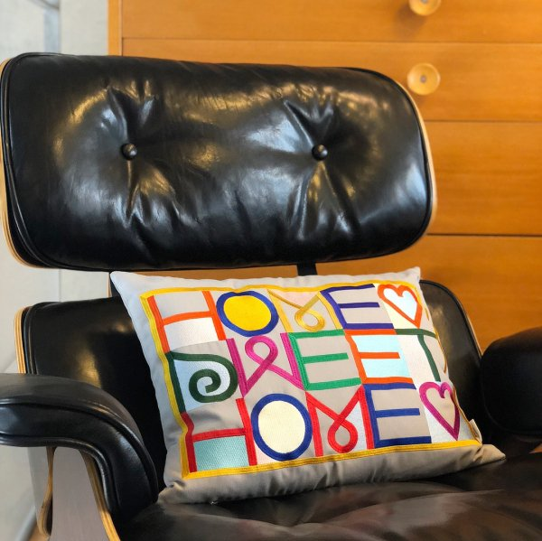 Embroidered Pillow / Home Sweet Home