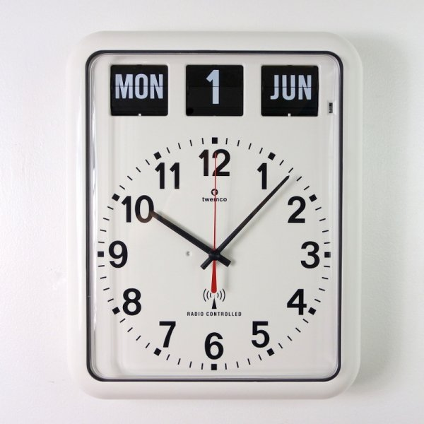 Twemco Radio Control Calendar Clock #RC-12A<img class='new_mark_img2' src='//img.shop-pro.jp/img/new/icons55.gif' style='border:none;display:inline;margin:0px;padding:0px;width:auto;' />