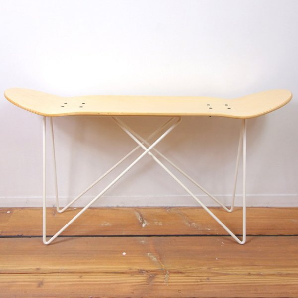 SKATE DECK STOOL (White Base)