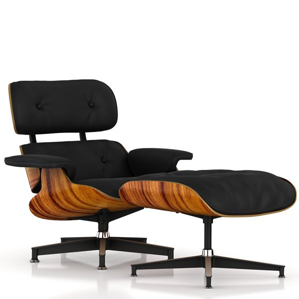Lounge Chair & Ottoman / New / MCL Leather Black
