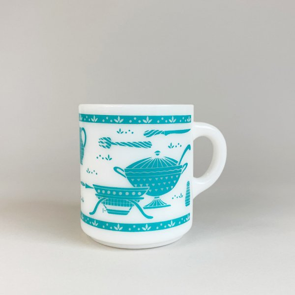 Vintage Milk Glass Mug