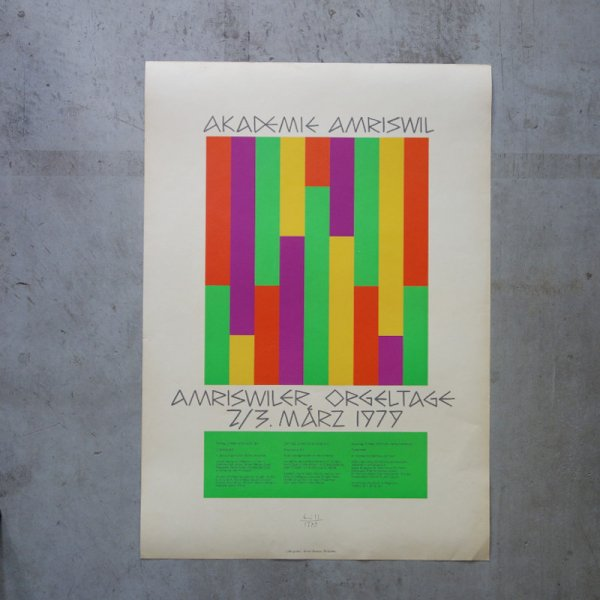 Max Bill -Amriswiler Orgeltage 1979 / Akademie Amriswil -