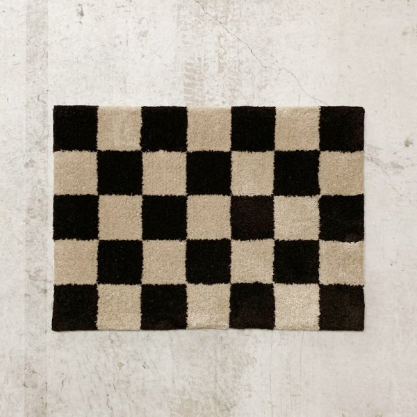 Original Rug / Block(Brown x Beige)