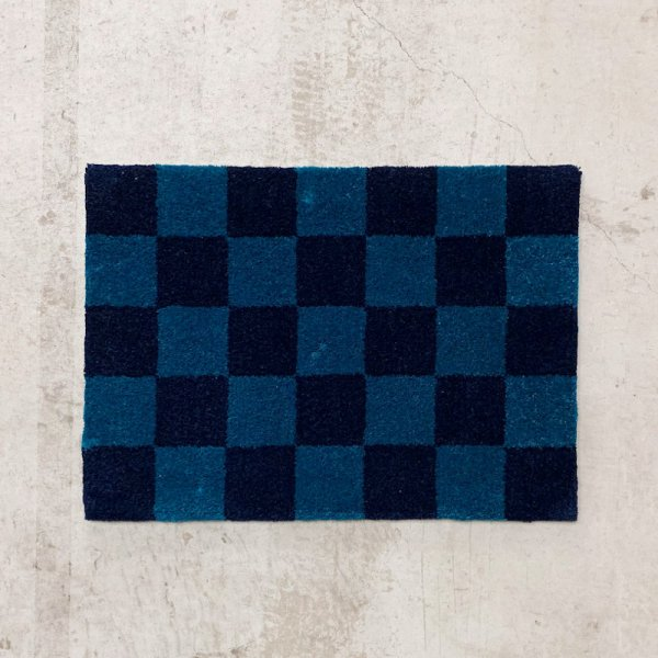 Original Rug / Block(Navy x Blue)<img class='new_mark_img2' src='//img.shop-pro.jp/img/new/icons5.gif' style='border:none;display:inline;margin:0px;padding:0px;width:auto;' />