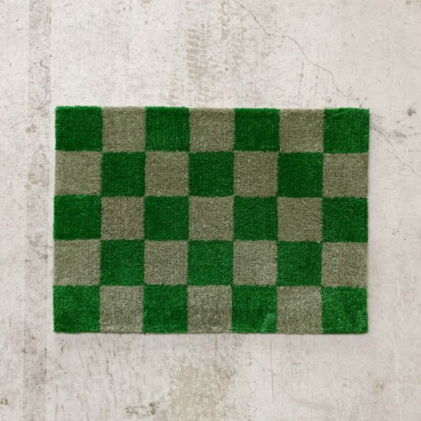Original Rug / Block(Green x Grey)<img class='new_mark_img2' src='//img.shop-pro.jp/img/new/icons5.gif' style='border:none;display:inline;margin:0px;padding:0px;width:auto;' />
