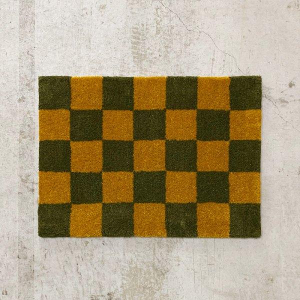 Original Rug / Block(Ochre x Moss Green)