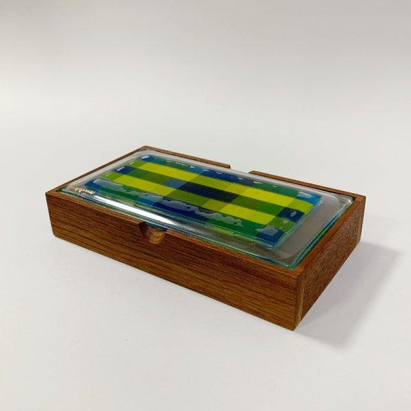 Higgins Glass / Cigarette Box / Plaid / #45