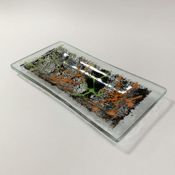 Higgins Glass / Coral Pattern Dish / #24