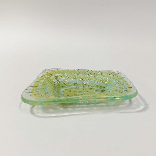 Higgins Glass / Four Side Dish / #18