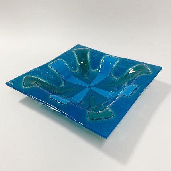 Higgins Glass / Rectangular Dish / Gold Coral / #31