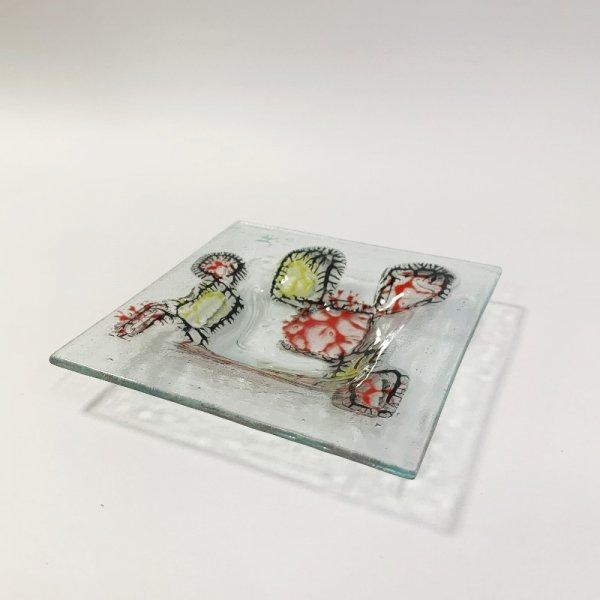 Higgins Glass / Square Dish / Coral Pattern / #32