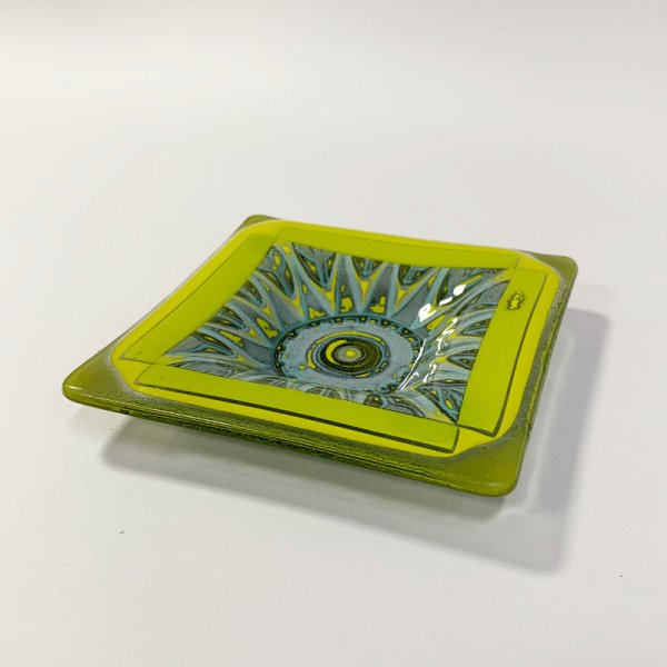 Higgins Glass / Square Dish / #36