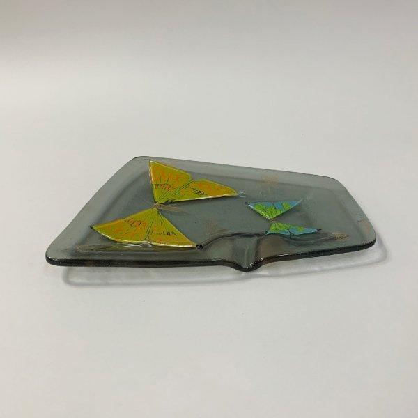 Higgins Glass / Ash Tray / Butterfly / #49
