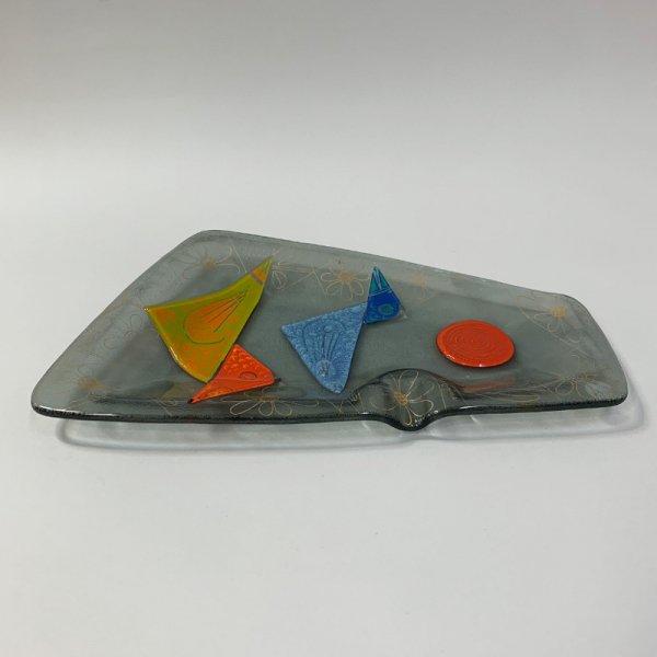 Higgins Glass / Ash Tray / Birds / #52
