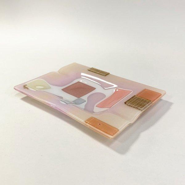 Higgins Glass / Rectangular Ash Tray / #66B