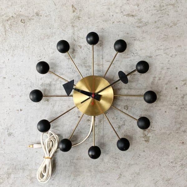 Ball Clock Vintage / Brass x Black
