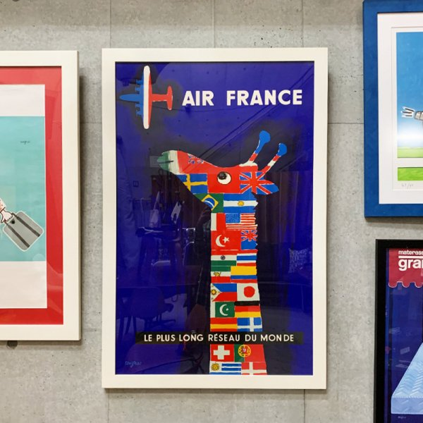 Raymond Savignac Poster / Air France 1956<img class='new_mark_img2' src='https://img.shop-pro.jp/img/new/icons47.gif' style='border:none;display:inline;margin:0px;padding:0px;width:auto;' />
