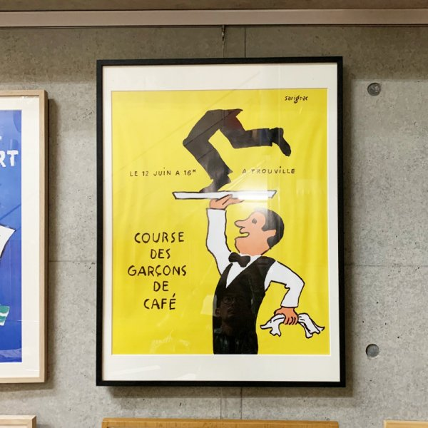 Raymond Savignac Poster / Course des Garcons de Cafe 1996<img class='new_mark_img2' src='https://img.shop-pro.jp/img/new/icons47.gif' style='border:none;display:inline;margin:0px;padding:0px;width:auto;' />