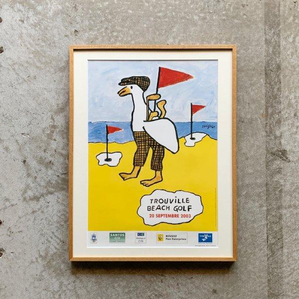 Raymond Savignac Poster / Beach Golf de Trouville 2001