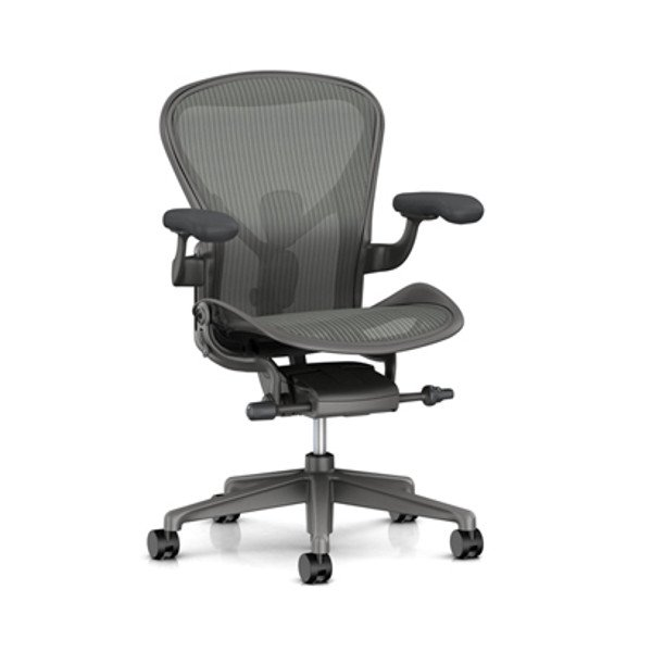 Aeron Chair Remastered Carbon  & FLO Monitor Arm
