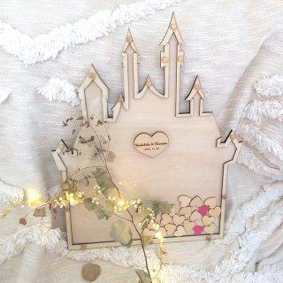 ハート刻印 お城のハートドロップス 選べるフレーム&バックボードカラー |ウェディング ウェルカムスペース演出 結婚式アイテム