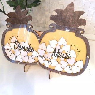 パイナップル型ハートドロップス ハワイアンリゾートSTYLE