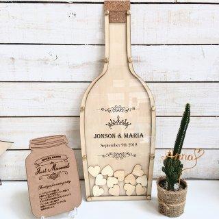 ハートドロップス シャンパンボトルデザイン 結婚式や二次会に最適