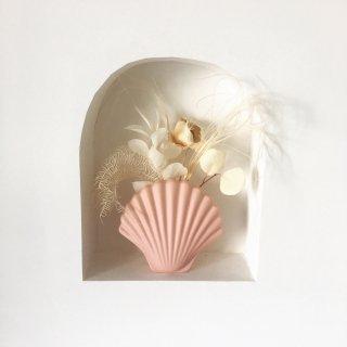 フラワーベース 花瓶 シェル型 -import-