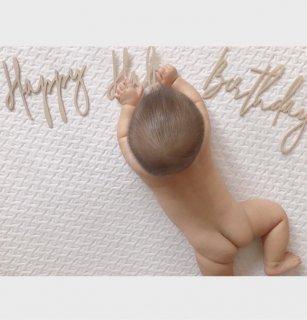 お誕生日 飾り付け バースデーバナー フォト サンド加工