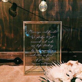 サンドセレモニー  真鍮フレーム   結婚証明書