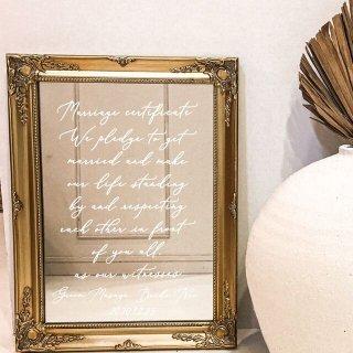 ミラーウェルカムボード  結婚証明書 W2021106