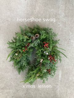 <img class='new_mark_img1' src='https://img.shop-pro.jp/img/new/icons1.gif' style='border:none;display:inline;margin:0px;padding:0px;width:auto;' />11月handmade kit  (Xmas horseshoe swag)