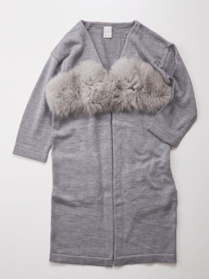 Fur Bra Knit Cardigan