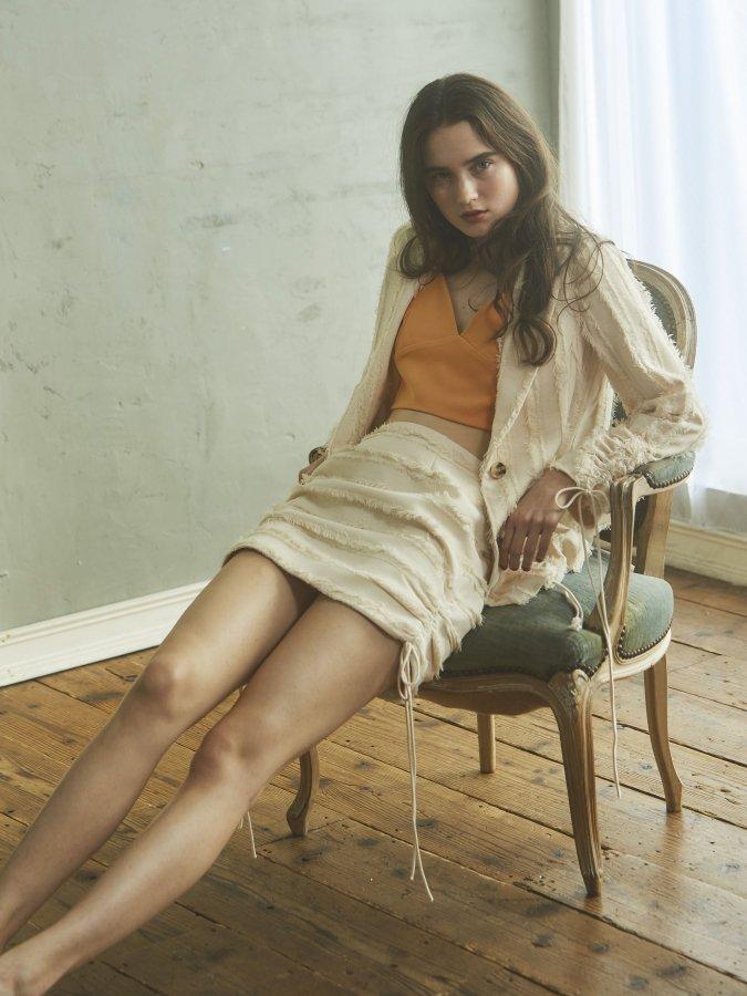 Shirring-hem Skirt