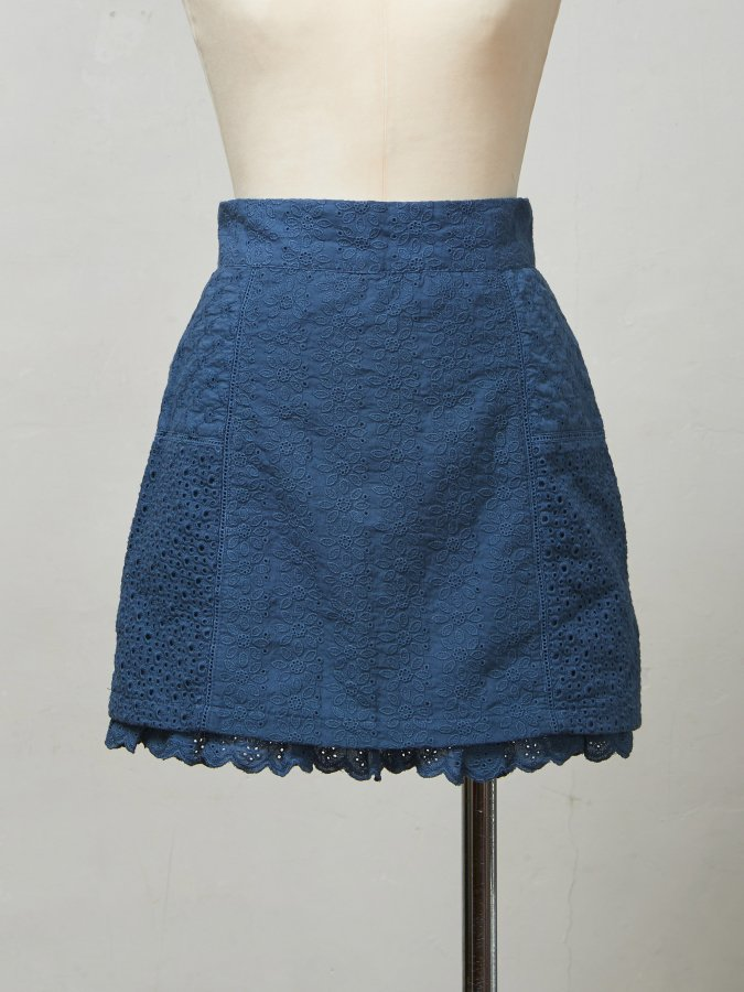Lace Panel Mini Skirt