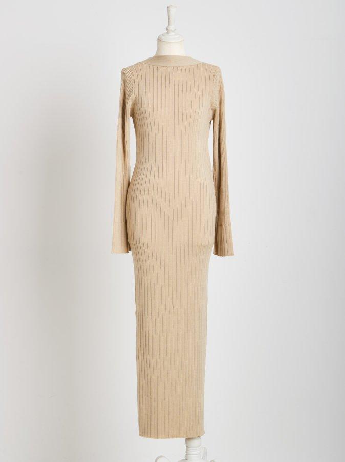 2way Rib Knit Tight Dress